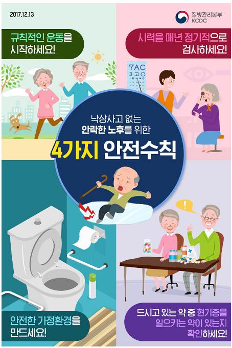 노인낙상 예방 포스터