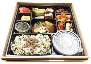 오찬 메뉴였던 강원나물밥.