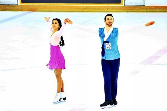 평창동계올림픽 아이스댄스부문의 민유라&알렉산더 겜린