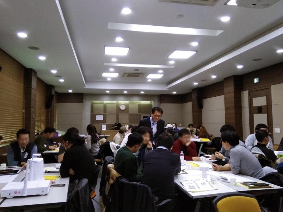 청년창업사관학교 프리스쿨 3차 분반교육 중 모습