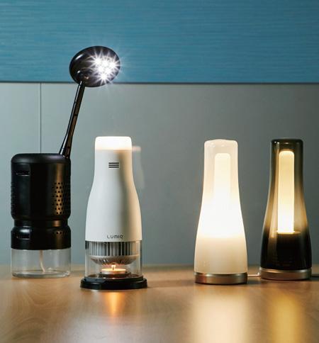 르가 출시한 제품 라인업. 왼쪽부터 루미르K, 루미르C, 최근 새롭게 출시한 루미르S(전기 작동 제품).(사진=루미르)