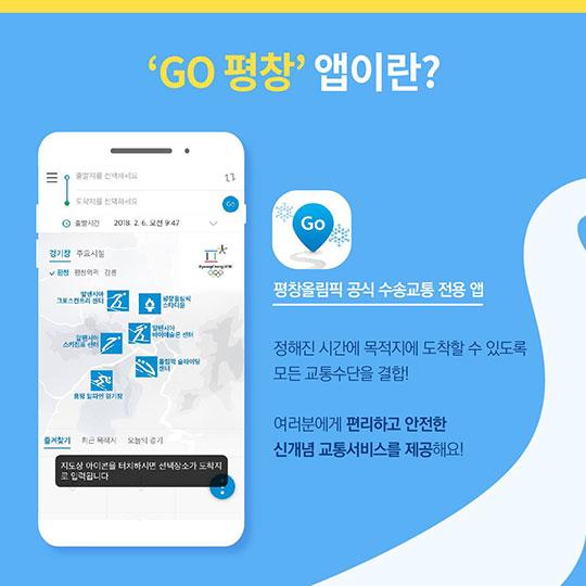 평창 올림픽 가는 길, 'GO 평창' 앱 사용하자!