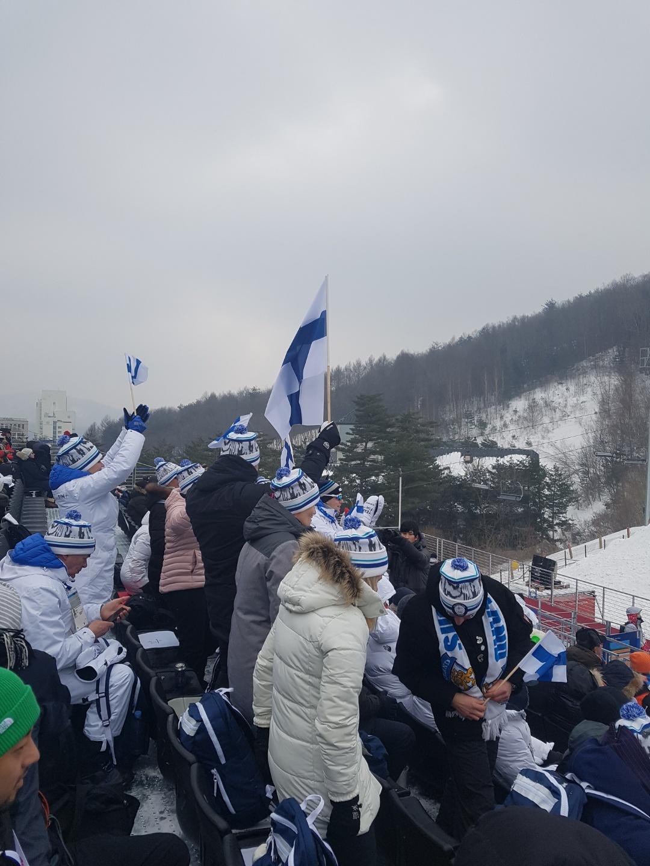 가장 열정적이었던 핀란드 응원단