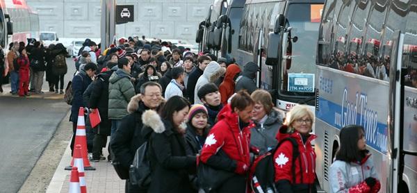 진부역 셔틀버스 승차장.(출처=뉴스1)