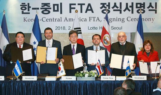 아시아 최초 중미 5개국과 FTA 체결…'시장 선점' 효과