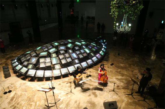 평창 문화ICT관에서는 재즈 등 다양한 장르의 수준 높은 소규모 공연이 펼쳐졌다.