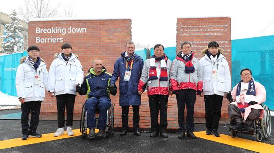 2018 평창동계패럴림픽 개막을 하루 앞둔 8일 오전 강원도 평창선수촌 내에서