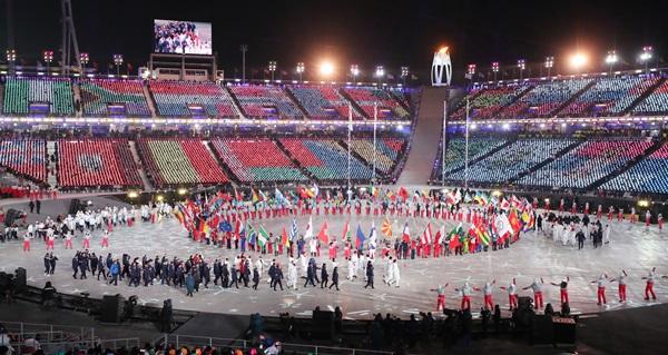 평창동계올림픽 폐막식 모습.(출처=뉴스1)