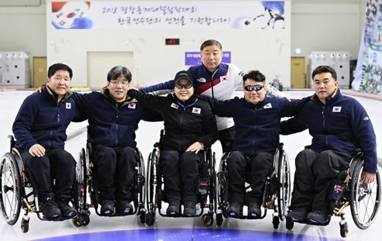 국가대표 휠체어컬링팀.(사진=대한장애인컬링협회)