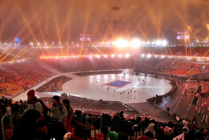 평창올림픽스타디움 패럴림픽 개막식을 찾은 관객들