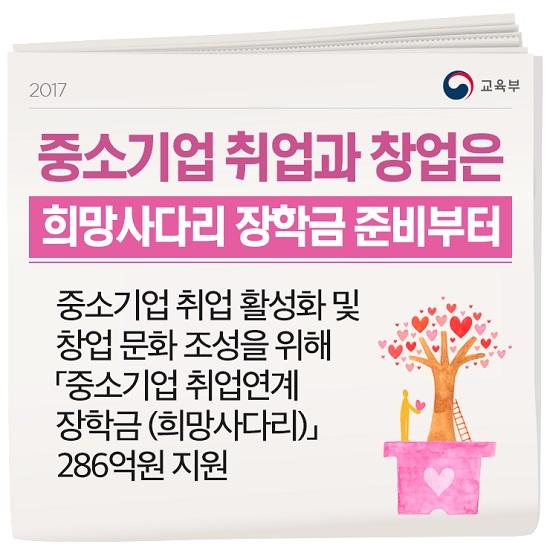 희망사다리 장학금 안내 팜플릿(이미지=교육부 블로그)