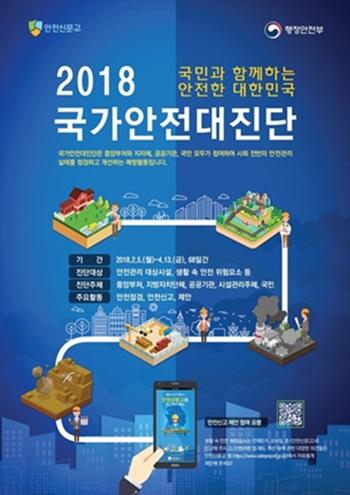2018 국가안전대진단 포스터.