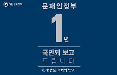 [문재인 정부 1년] 평화와 번영의 한반도
