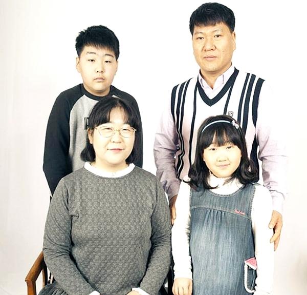 나라 사토코 씨 가족사진.