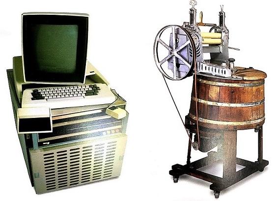 3위_1973년 제록스가 출시한 개인용 컴퓨터 알토(왼쪽), 4위_1920년경 캐나다 비티 브라더스사의 전기구동현 가정용 세탁기