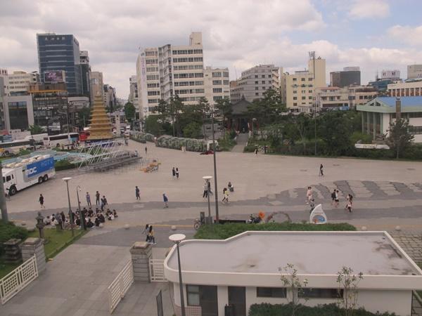 2018년 평화로운 5.18 민주광장 모습.