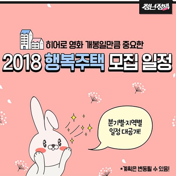 2018 행복주택 모집…분기별·지역별 일정 대공개