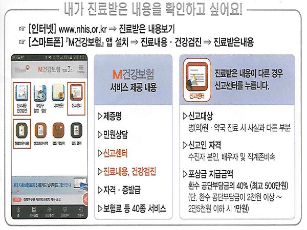 인터넷 및 모바일 앱으로 더욱 자세하게 진료받은 내용을 확인할 수 있다.