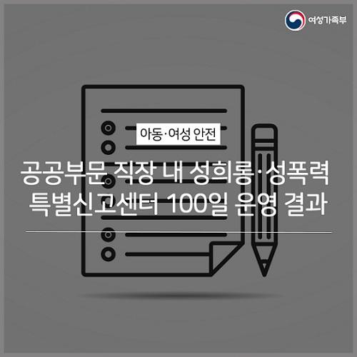 성희롱·성폭력 특별신고센터 100일…1280건 접수