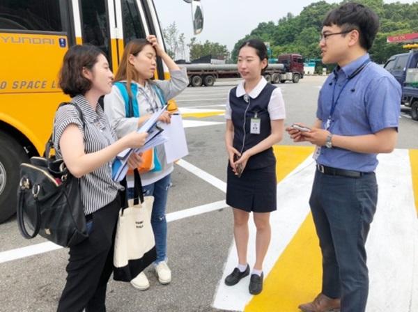 보이스아이 모니터링단과 고속도로 휴게소 인적 서비스 담당 직원이 만남을 가졌다.