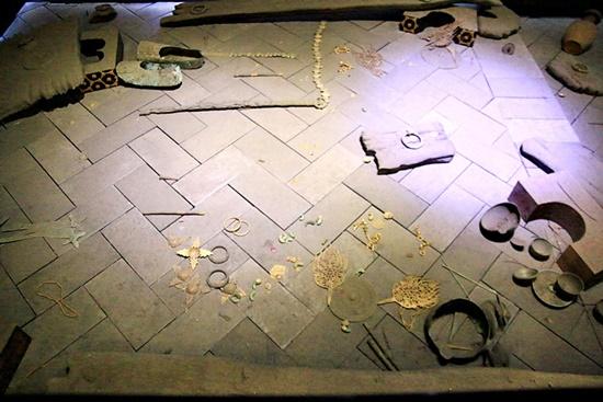 무열왕릉 발굴 당시의 모습