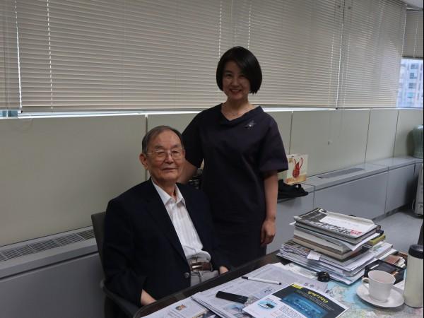 김자동 회장과 따님 김