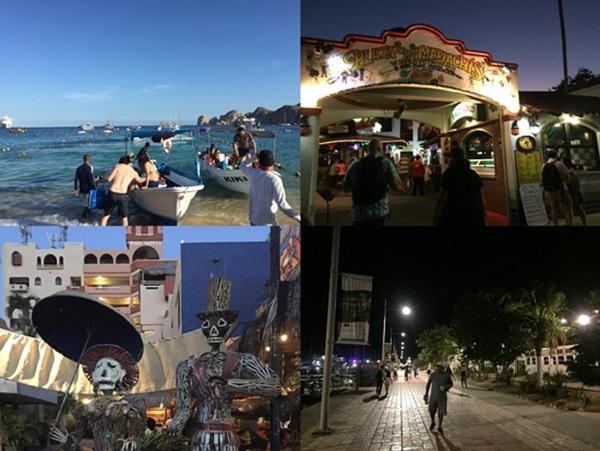 크루즈 관광객들로 하루종일 활기찬 멕시코 로스카보스.