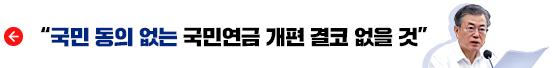 """""""국민 동의 없는 국민연금 개편 결코 없을 것"""""""