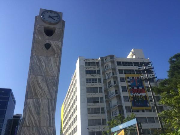 금남로의 시계탑과 옛 광주은행 본점
