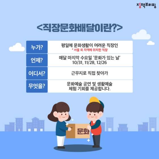 """""""딩동~문화 배달 왔어요"""""""