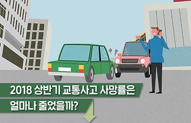 2018 상반기 교통사고 사망률, 얼마나 줄었나