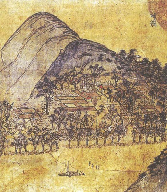 석주 이상룡 선생의 조상인 고성 이씨 허주 이종악(1726~1773)이 발간한 문집 <허주유고>속에 임청각과 그 주변 전경을 묘사한 그림. (사진=문화재청)