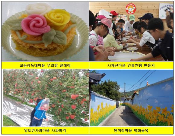 5대 농촌마을의 대표적인 체험 프로그램
