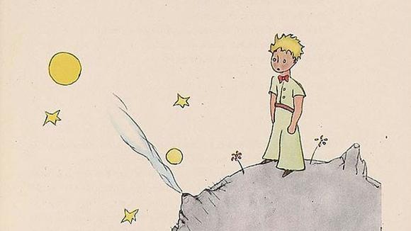 소행성 b612에서 별을 바라보는 어린 왕자.