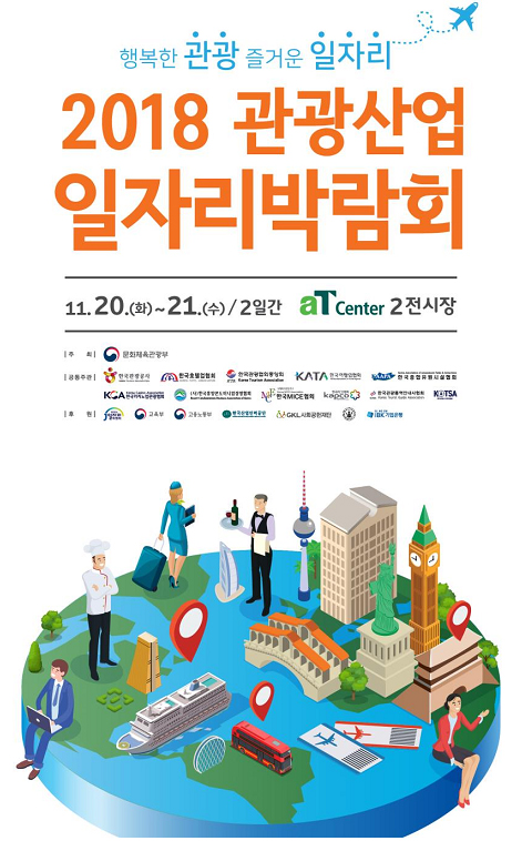 2018 관광산업 일자리박람회 포스터.