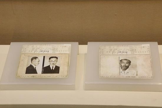 안창호 선생의 수형기록카드. 도산안창호기념관을 방문했을 때 찍었다.