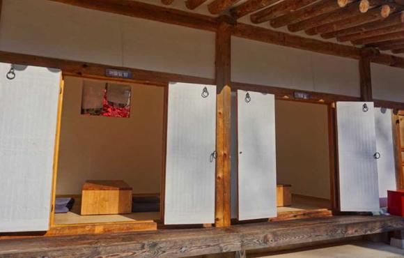 버들잎방(왼쪽)과 빗물방(오른쪽). (사진=문화재청)