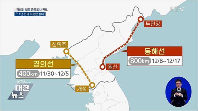 """北 경의선 철도 공동조사 완료···""""11년 전과 비슷"""""""