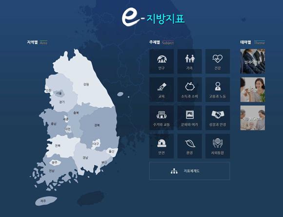 통계청 'e-지방지표' 시각화 서비스 개시