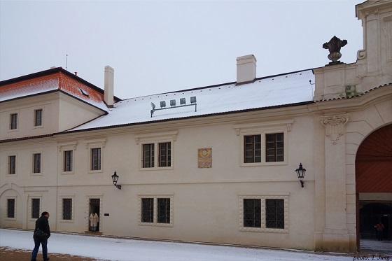 리토미슐 성 바로 옆 맥주 양조장 건물에 딸린 스메타나의 집.