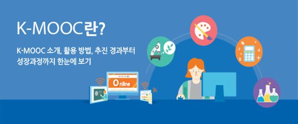 온라인 대학강의 플랫폼 K-MOOC. (이미지= K-MOOC 홈페이지 http://www.kmooc.kr)