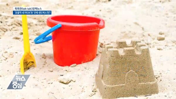 '규제 샌드박스' 라는 이름은 어린이들이 자유롭게 노는 모래 놀이터처럼 규제가 없는 환경을 제공하고, 그 안에서 다양한 아이디어와 실험을 할 수 있도록 한다고 해서 생겨났다.(출처=KTV)