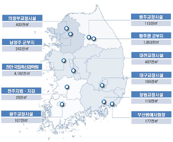 선도사업지 선정내역 및 지역별 현황도. (출처=기획재정부)