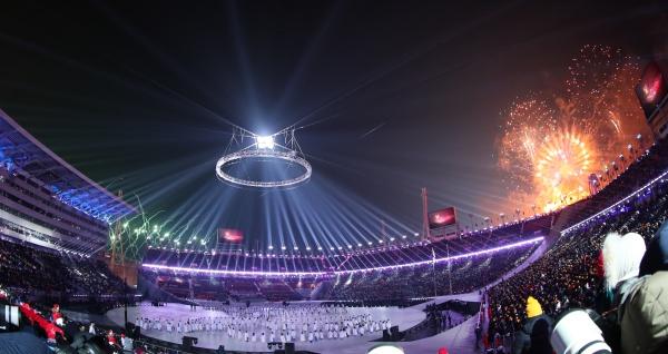 평창동계올림픽 개막식 모습.(사진=저작권자(c) 뉴스1, 무단 전재-재배포 금지)