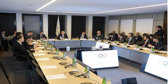 남북-국제올림픽위원회(IOC) 3자회의 대표단 회의 모습. (사진=문화체육관광부)