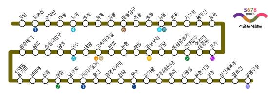 현재 지하철 7호선 노선도. 인천부터 포천까지 7호선이 달리게 됩니다.
