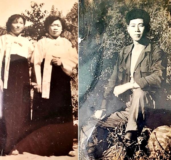 할머니를 바라보던 할아버지는 못 뵀지만, 할아버지 사진을 걸어 놓은 방은 따뜻했다. 할머니 와 친척할머니(좌), 할아버지(우)