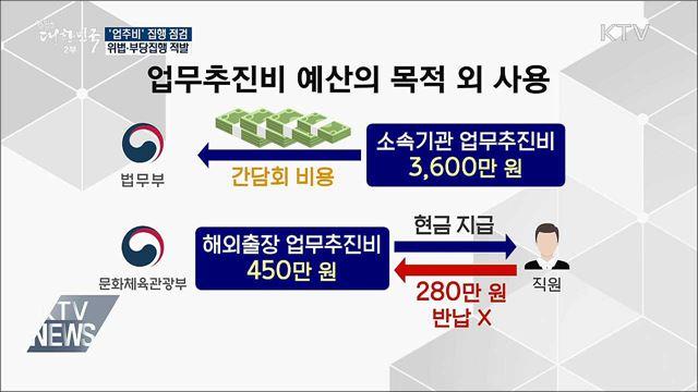 '업추비' 부당 집행 35건···관련자 징계 요청