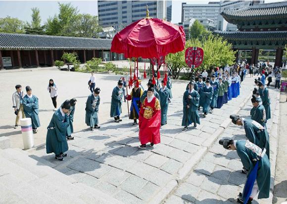 지난해 열렸던 궁중문화축전 - 시간여행 그날.