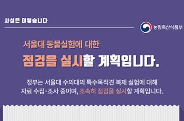 서울대 동물실험 점검 실시…위반 확인시 제재 계획